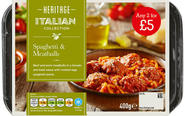 SPAGHETTI & MEATBALLS ANY 2 FOR £5
