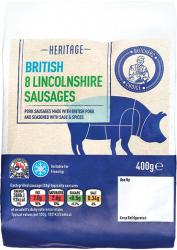 BUTCHERS CHOICE LINCOLNSHIRE SAUSAGES