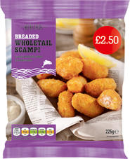 FROZEN BREADED WHOLETAIL SCAMPI
