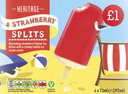 4 Strawberry Split Lollies